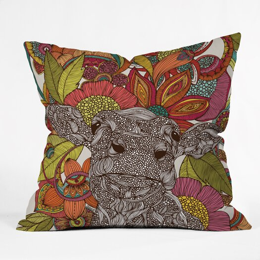 DENY Designs Valentina Ramos Arabella and the Flowers Indoor/Outdoor Throw Pillow