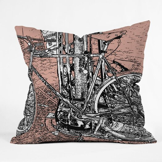 DENY Designs Romi Vega Bike Indoor/Outdoor Throw Pillow