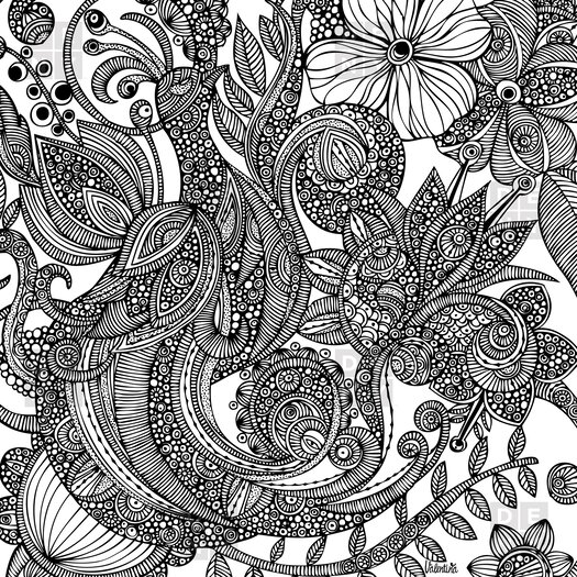 DENY Designs Valentina Ramos Bird in Flowers Shower Curtain