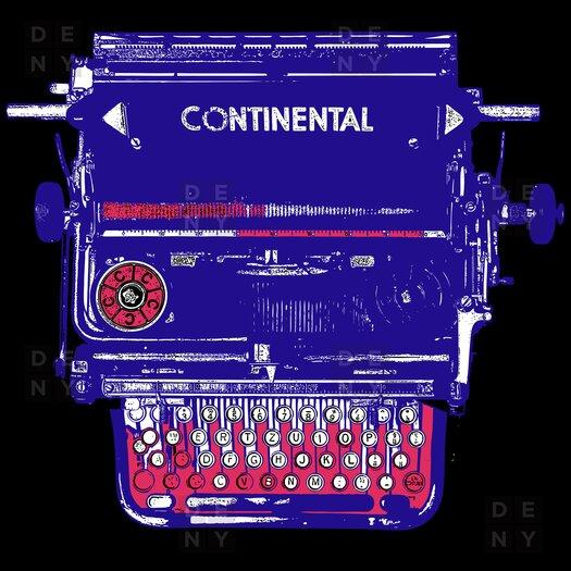 DENY Designs Romi Vega Continental Typewriter Shower Curtain