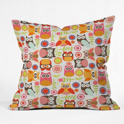 DENY Designs Valentina Ramos Cute Little Owls Throw Pillow