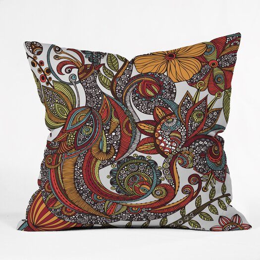 DENY Designs Valentina Ramos Paradise Bird Indoor/Outdoor Throw Pillow