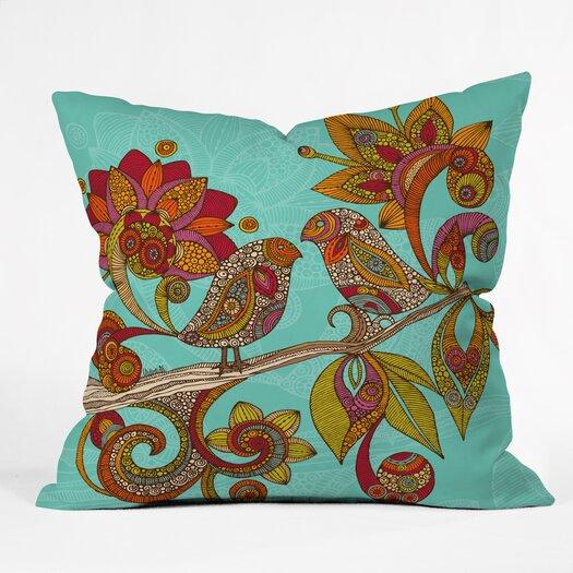 DENY Designs Valentina Ramos Hello Birds Throw Pillow