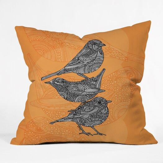 DENY Designs Valentina Ramos 3 Little Birds Indoor/Outdoor Throw Pillow