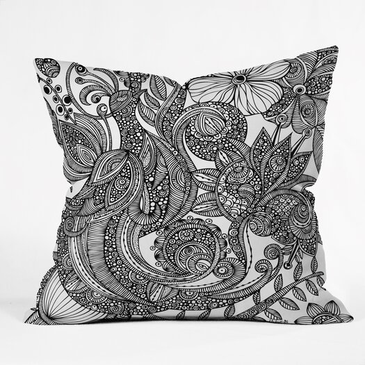 DENY Designs Valentina Ramos Bird in Flowers Indoor/Outdoor Throw Pillow