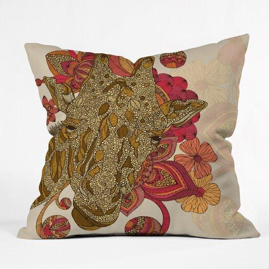 DENY Designs Valentina Ramos the Giraffe Throw Pillow