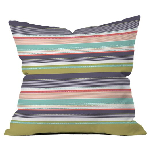 DENY Designs Wendy Kendall Multi Stripe Throw Pillow
