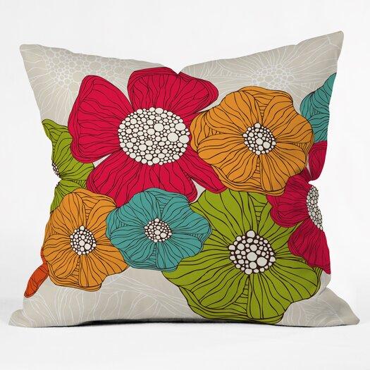 DENY Designs Valentina Ramos Flowers Throw Pillow
