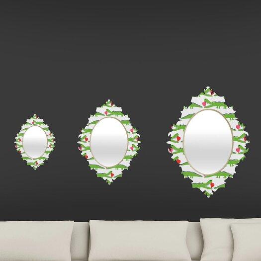 DENY Designs Andi Bird Alligator Love Baroque Mirror