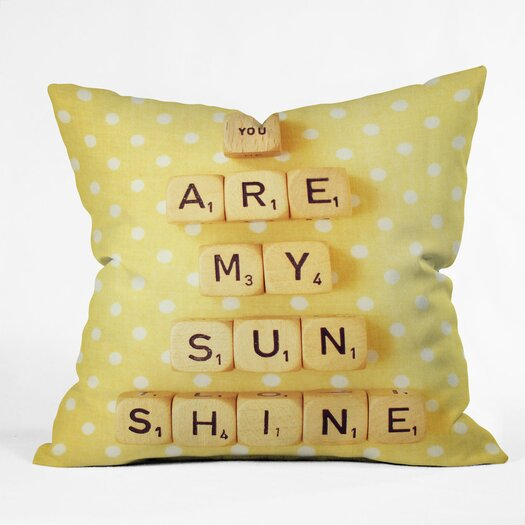DENY Designs Happee Monkee Tiles You Are My Sunshine Throw Pillow