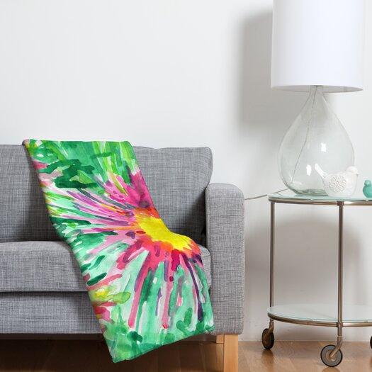DENY Designs Joy Laforme Floral Confetti Throw Blanket