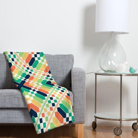 DENY Designs Budi Kwan Retrographic Rainbow Throw Blanket