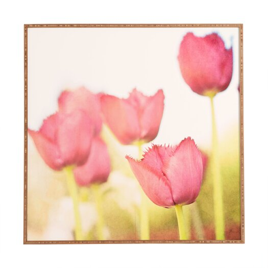 DENY Designs Tulips by Bree Madden Framed Photographic Print Plaque