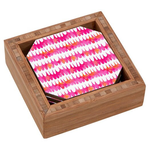 DENY Designs Betsy Olmsted Owl Feather Coaster