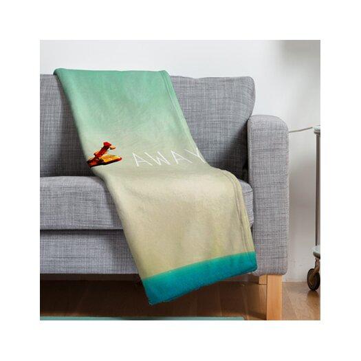 DENY Designs Happee Monkee Fly Away Throw Blanket