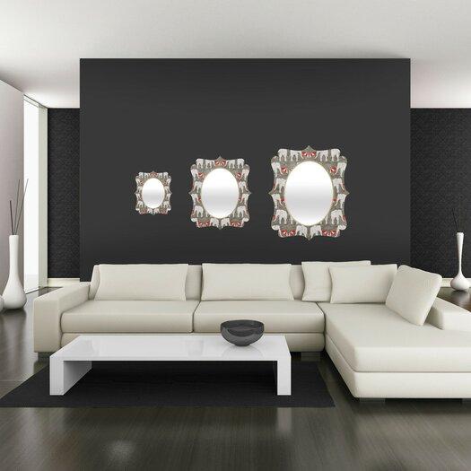 DENY Designs Holli Zollinger Elephant and Umbrella Quatrefoil Mirror