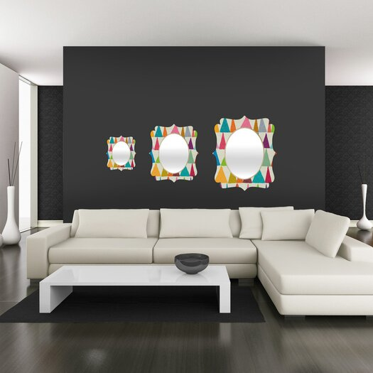 DENY Designs Nick Nelson Analogous Shapes in Bloom Quatrefoil Mirror