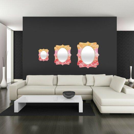 DENY Designs Cori Dantini Warm Spectrum Rainbow Quatrefoil Mirror