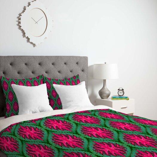 DENY Designs Wagner Campelo Ikat Leaves Duvet Cover