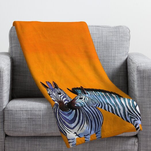 DENY Designs Clara Nilles Candy Stripe Zebras Throw Blanket
