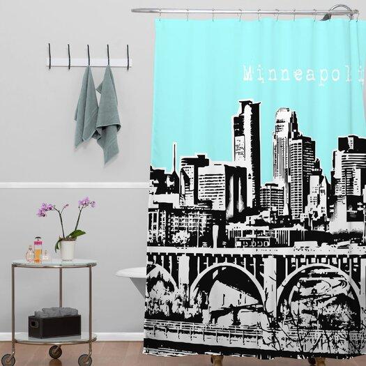 DENY Designs Bird Ave Minneapolis Shower Curtain