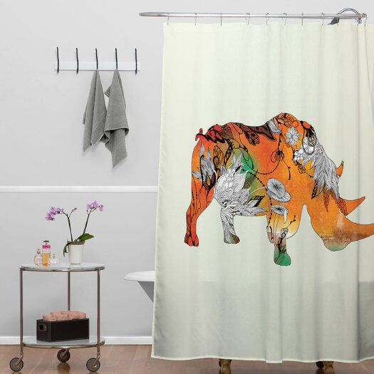 DENY Designs Iveta Abolina Rhino Shower Curtain
