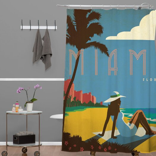 DENY Designs Anderson Design Group Miami Shower Curtain