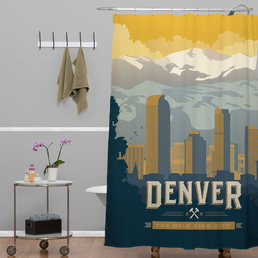 DENY Designs Anderson Design Group Denver One Shower Curtain