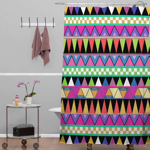 DENY Designs Bianca Green Zigzag Shower Curtain