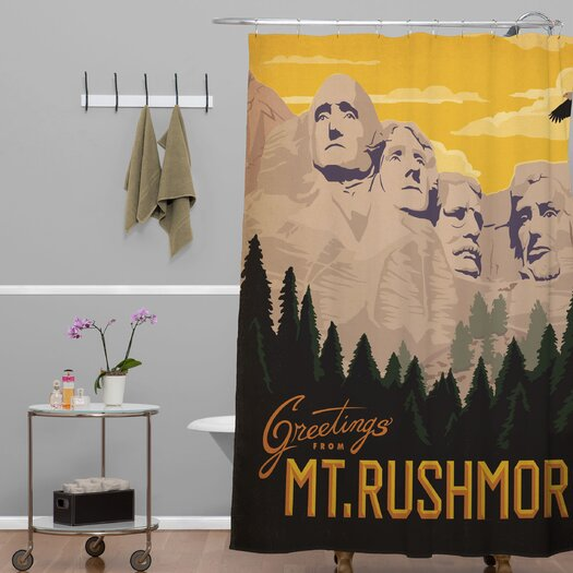 DENY Designs Anderson Design Group Mount Rushmore Shower Curtain