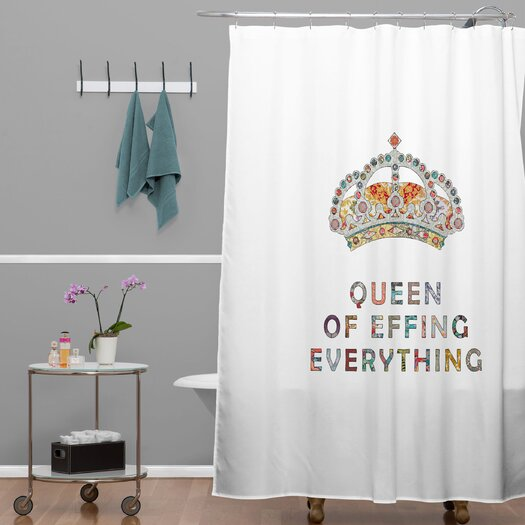 DENY Designs Bianca Green Her Daily Motivation Shower Curtain