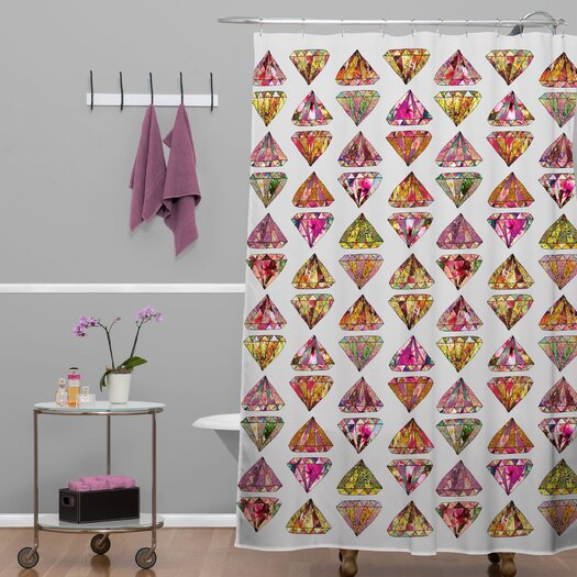 DENY Designs Bianca Green These Diamonds Are Forever Shower Curtain