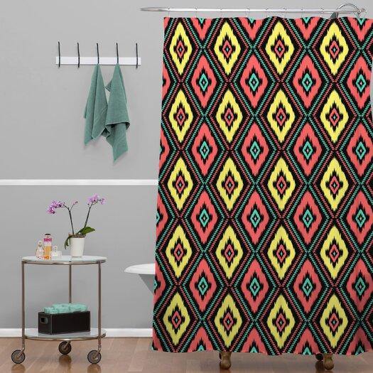DENY Designs Jacqueline Maldonado Zig Zag Ikat Shower Curtain