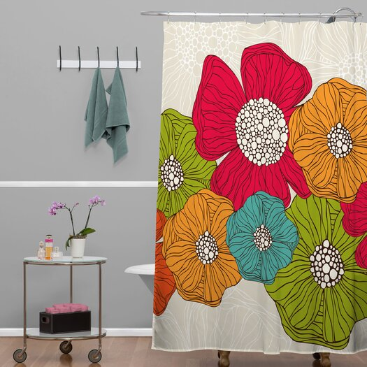 DENY Designs Valentina Ramos Flowers Shower Curtain