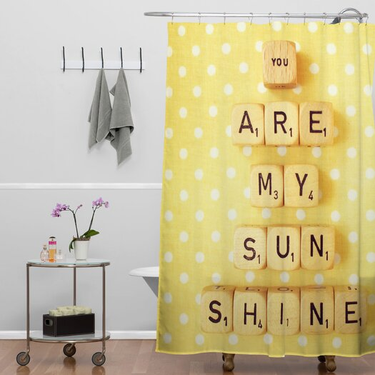 DENY Designs Happee Monkee You Are My Sunshine Shower Curtain