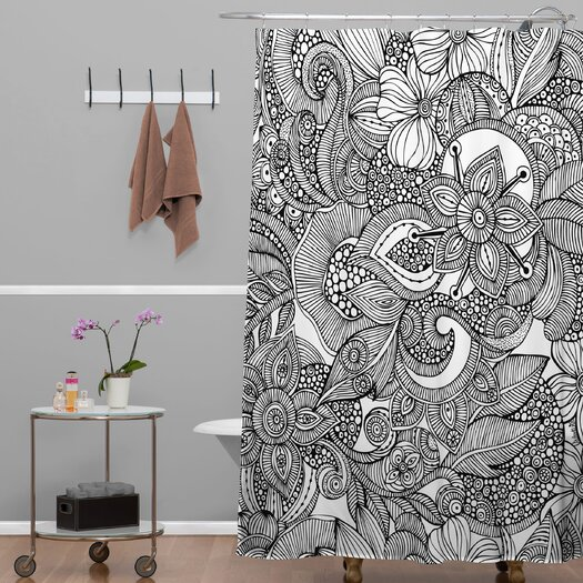 DENY Designs Valentina Ramos Doodles Shower Curtain