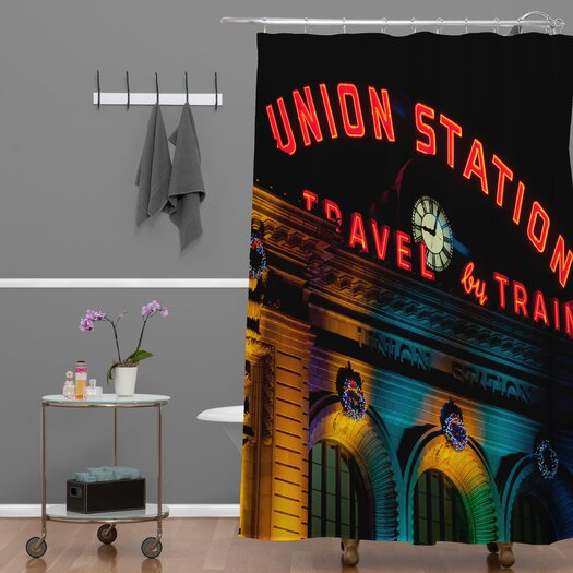 DENY Designs Bird Wanna Whistle Union Station Shower Curtain