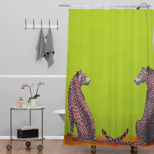 DENY Designs Clara Nilles Leopard Lovers Shower Curtain
