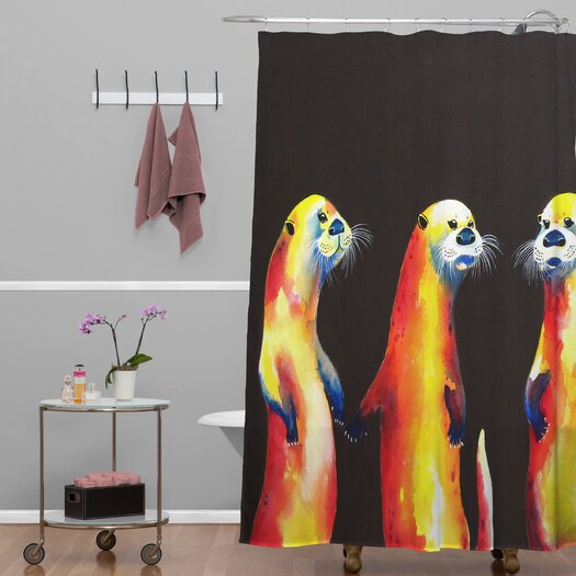 DENY Designs Clara Nilles Flaming Otters Shower Curtain