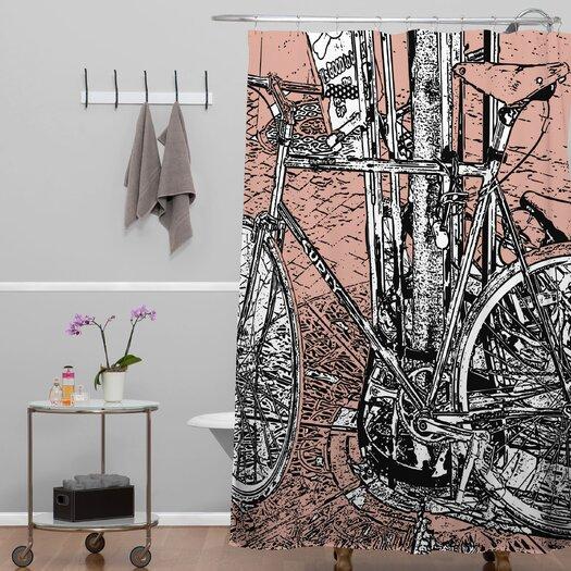 DENY Designs Romi Vega Bike Shower Curtain