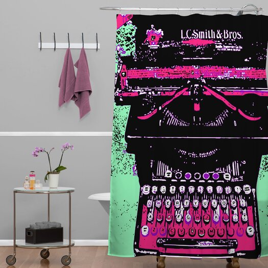 DENY Designs Romi Vega Typewriter Shower Curtain