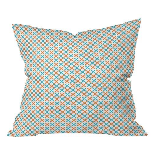 DENY Designs Tammie Bennett X Check Throw Pillow