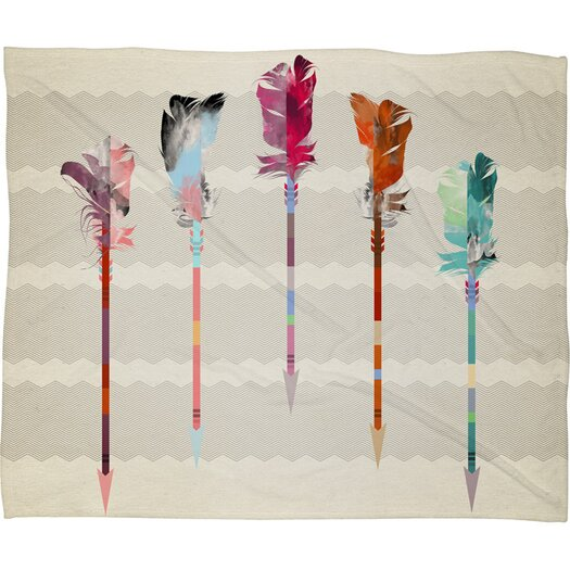 DENY Designs Iveta Abolina Feathered Arrows Throw Blanket