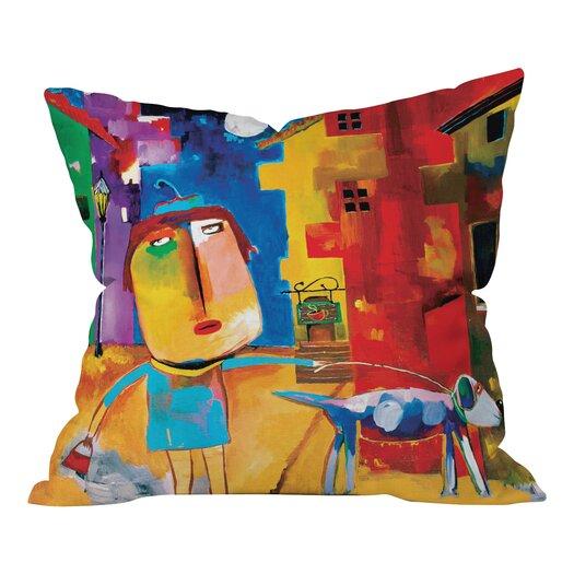 DENY Designs Robin Faye Gates Sylvia Needs Eggs Indoor/Outdoor Throw Pillow
