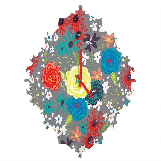 DENY Designs Vy La Blooming Love Wall Clock