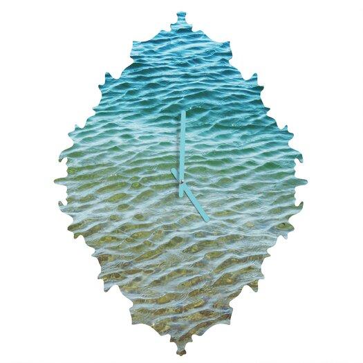 DENY Designs Shannon Clark Ombre Sea Wall Clock