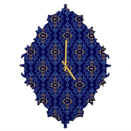 DENY Designs Belle 13 Royal Damask Pattern Wall Clock