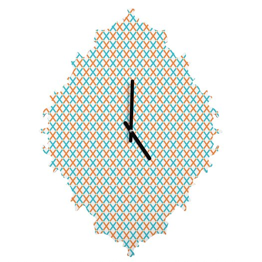 DENY Designs Tammie Bennett X Check Wall Clock