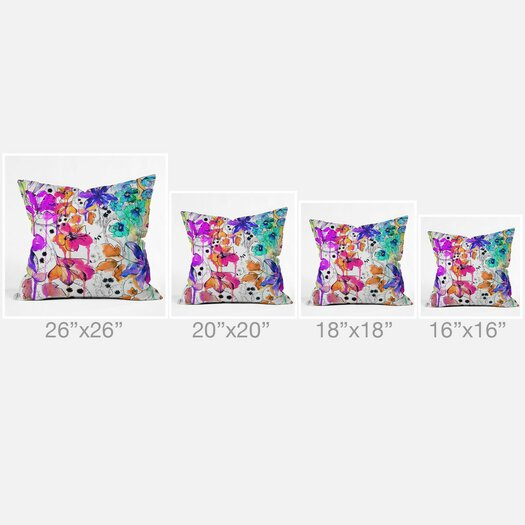 DENY Designs Holly Sharpe Lost in Botanica Throw Pillow