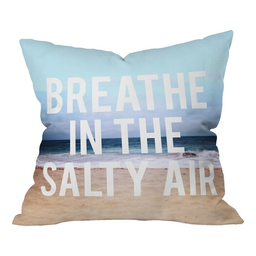 DENY Designs Leah Flores Breathe Throw Pillow